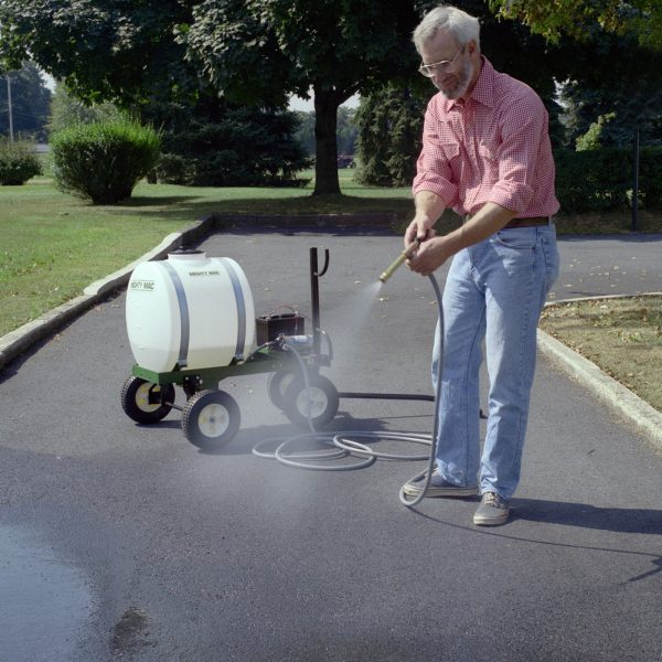 Mighty Mac 22 Gallon Sprayers cleaning driveway
