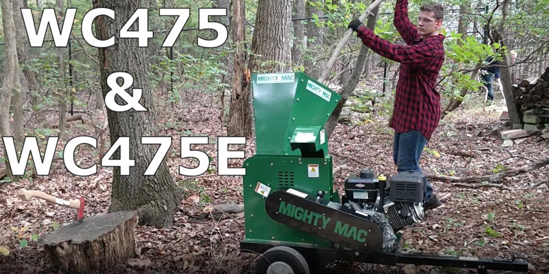 Mighty Mack Wood Chipper WC75 & WC475e